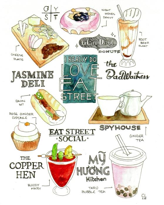 15 Eat Street Print