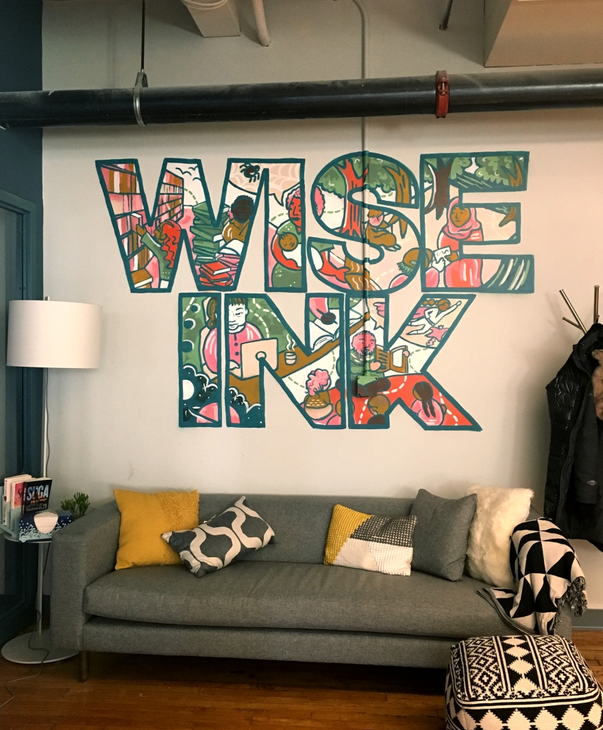 Wise Ink Mural Completed